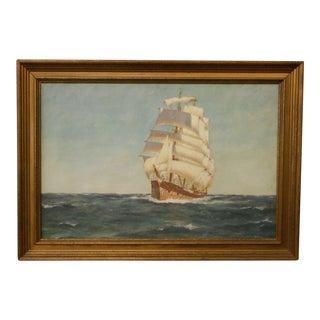 C.C. Titterton Clipper Ship Oil Painting