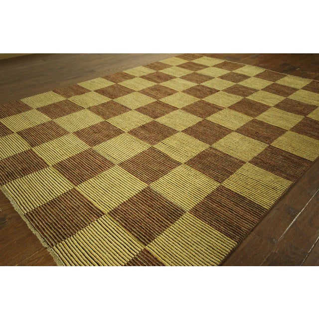 "Checkered Gabbeh Kashkuli Rug - 8'2"" x 10'6"" - Image 4 of 10"