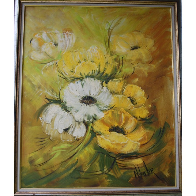 Mid Century Hollywood Regency Poppy Painting - Image 7 of 9