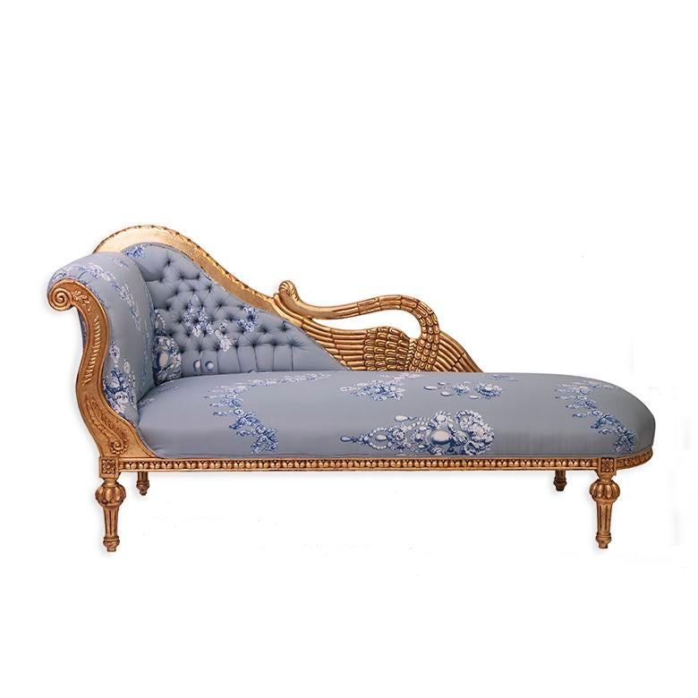 Antique Gilded French Chaise in Oscar de la Renta Fabric  sc 1 st  Chairish : french chaise - Sectionals, Sofas & Couches
