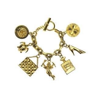Chanel Vintage Gold Charm Bracelet