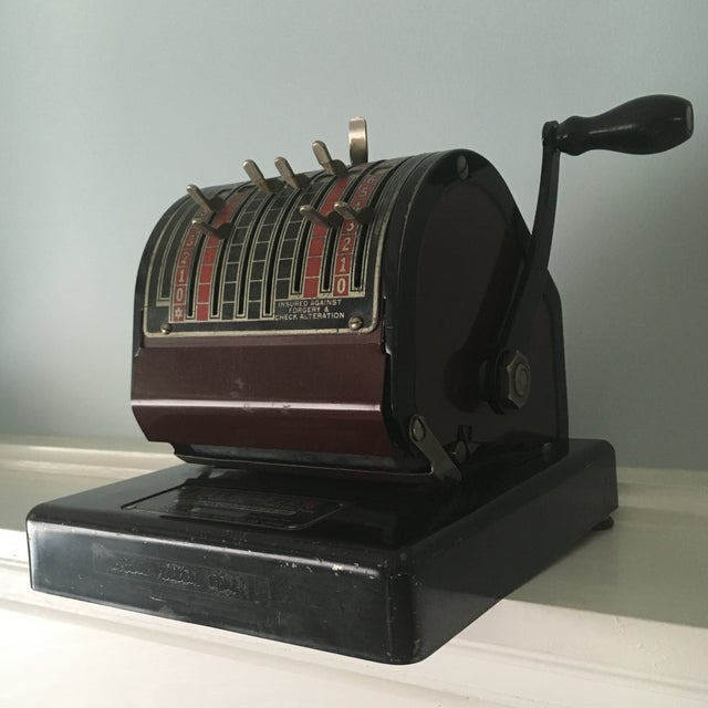 1930s Antique Paymaster Office Check Writer - Image 3 of 11