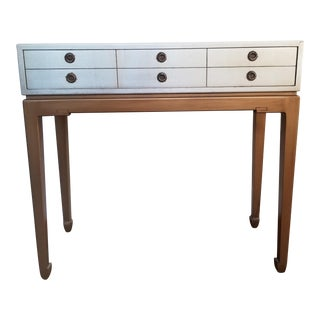 Petite Metallic Asian Desk