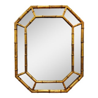 Vintage Gold Faux Bamboo Mirror