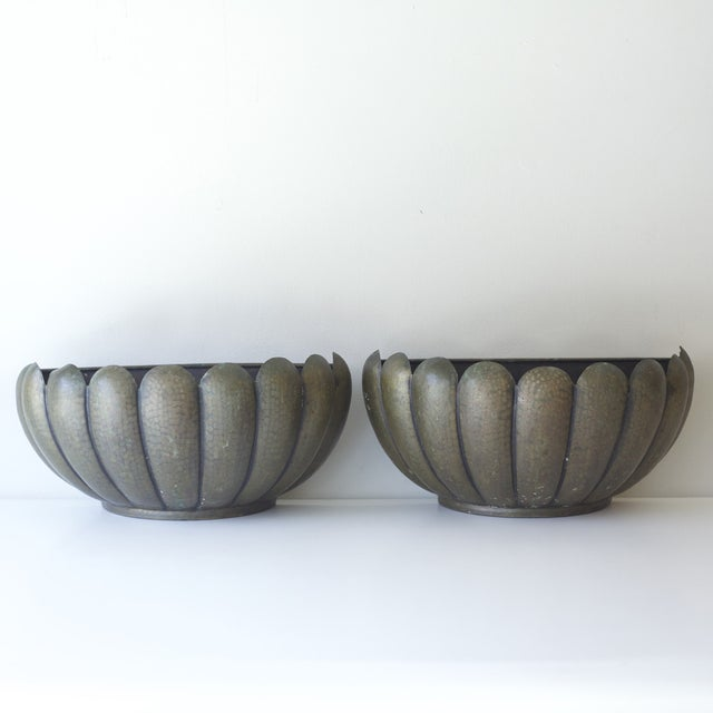 Mid-Century Modern Wall Planters - A Pair - Image 2 of 5