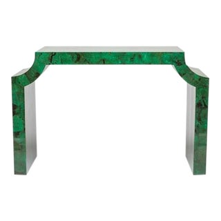 Jewel-Tone Jade Console Table