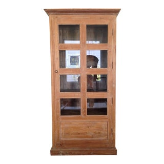 Vintage Carved Wood Curio Cabinet