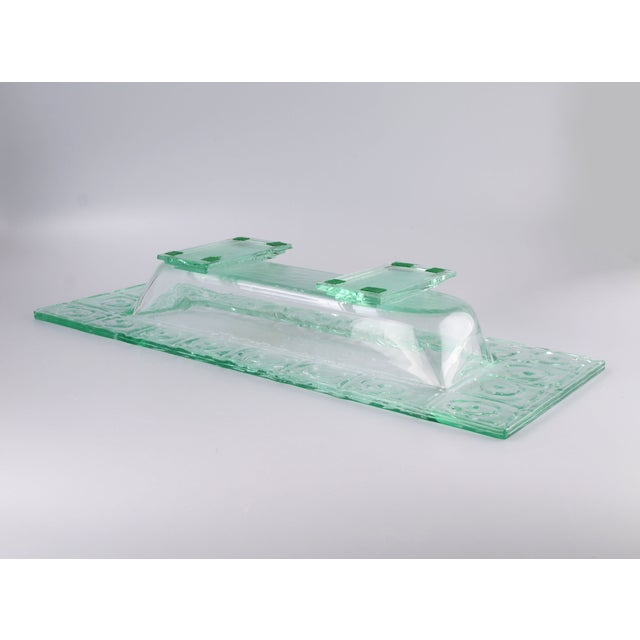 Floating Green Glass Centerpiece Tray - Image 9 of 11