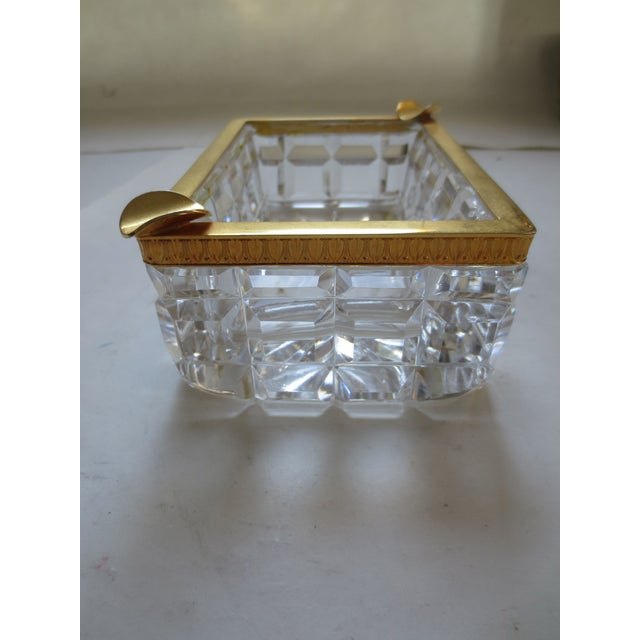 Baccarat French Cut Glass & Gilt Ash Tray - Image 4 of 5