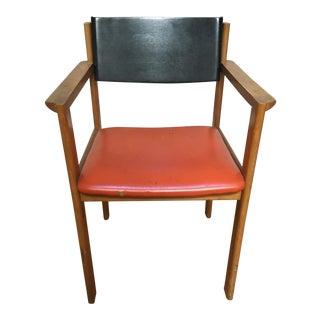 Mid Century Black & Orange Chair