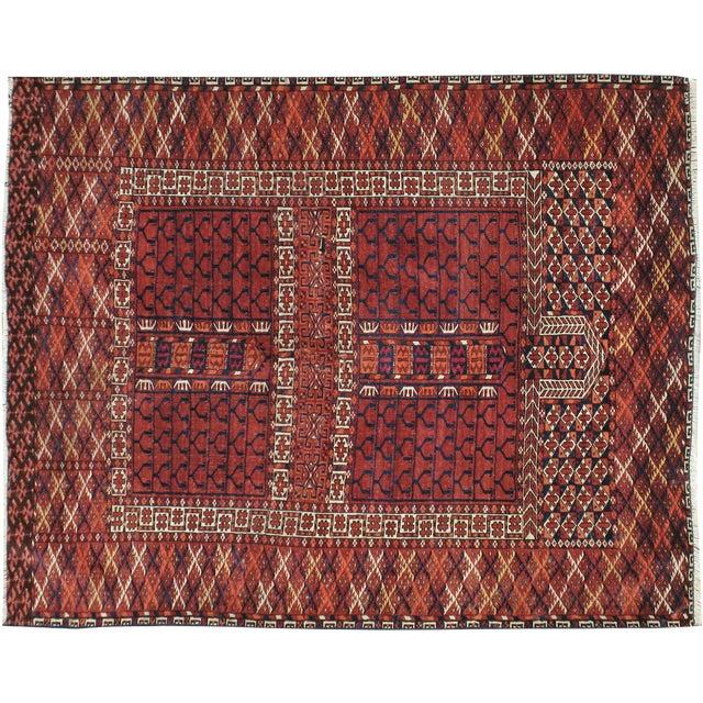 Vintage Turkoman Tekke Rug- 3′9″ × 4′9″ - Image 1 of 3