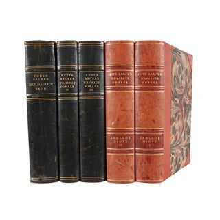 Designer Leather Books - Set of 5