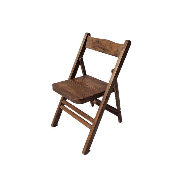 Vintage Wooden Folding Chair - Image 1 of 4