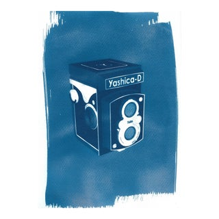 Limited Edition Cyanotype. Yashica Twin-Lens Medium Format Camera 3d Render