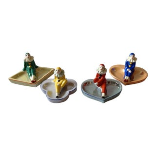 Art Deco Harlequin Pin Trays - Set of 4