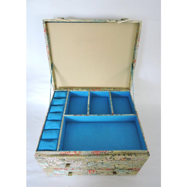 Oriental Brocade Jewelry Box - Image 2 of 5