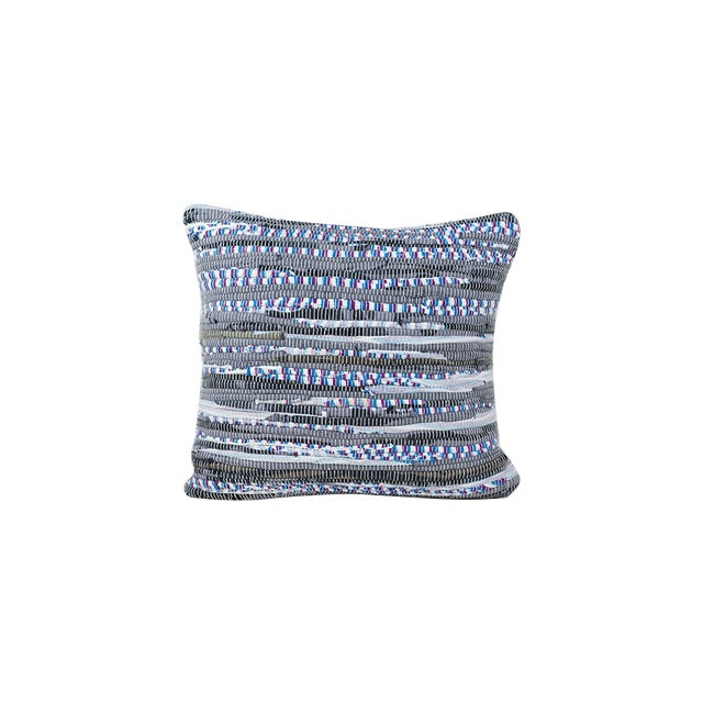 Handwoven Rag Rug Pillow-A Pair - Image 1 of 4