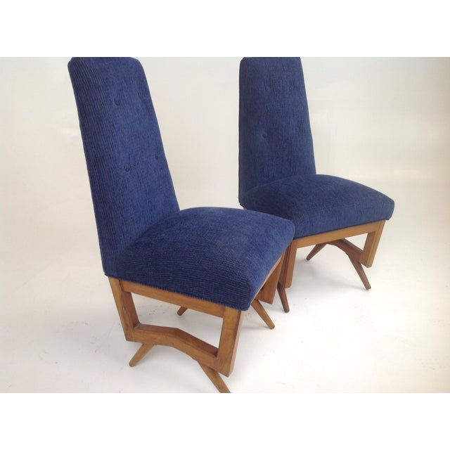 Mid century modern dining chairs pair chairish for Modern dining chairs ireland