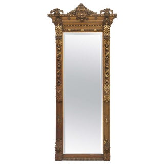 Gold Gilded Floor or Mantle Mirror