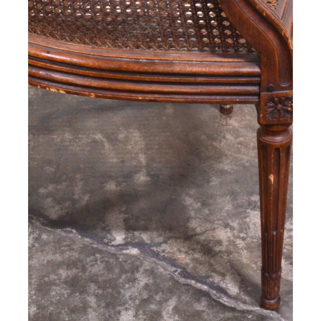Vintage French Louis XV Caned Chair - Image 6 of 6