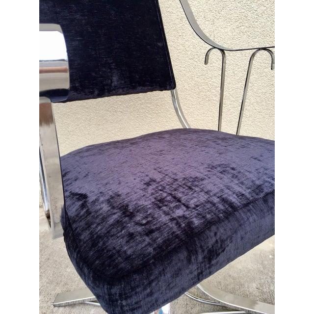 Mid-Century Chrome Swivel Chairs- Set of 6 - Image 9 of 11