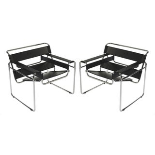 Marcel Breuer Wassily Style Chairs - A Pair