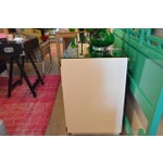 Image of Drexel Lacquered White with Emerald Lucite-Top Campaign Dresser