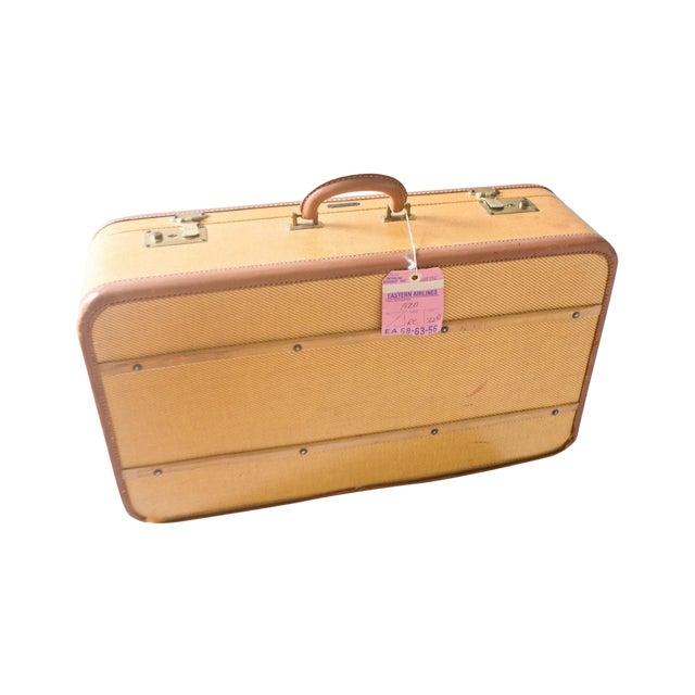 1950s Vintage Komfy Travel Suitcase Yellow Large - Image 1 of 6