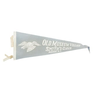 Vintage Old Museum Village Felt Flag