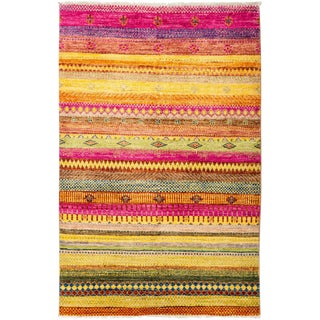 "Lori, Hand Knotted Area Rug - 4'1"" X 6'4"""