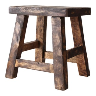 Vintage Chinese Wooden Stool