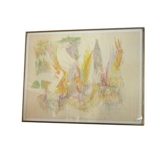 Mid-Century Abstract Watercolor Painting