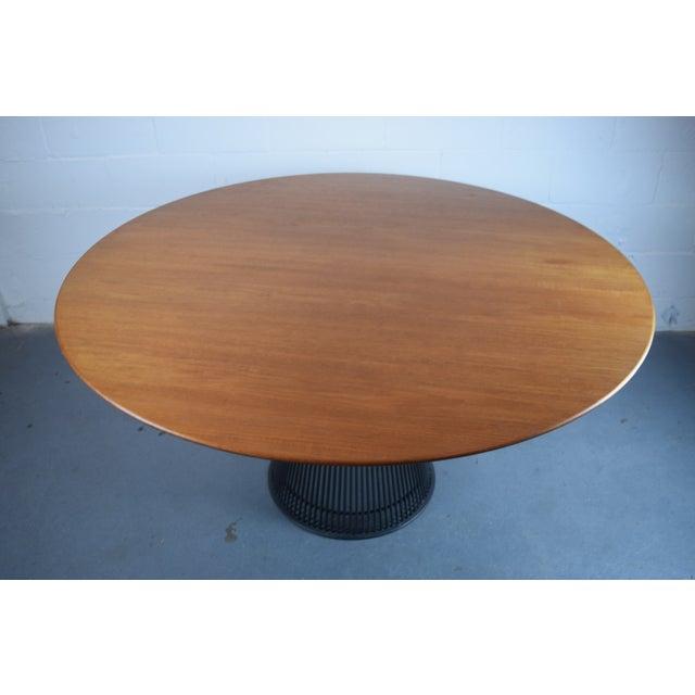 Warren Platner for Knoll Bronze and Teak Table - Image 6 of 8