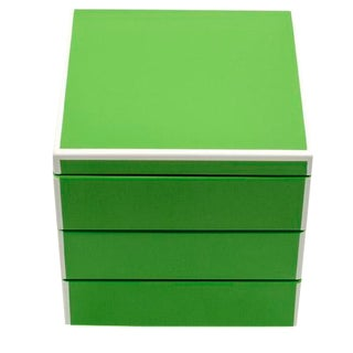 Green Lacquer Stacking Jewlery Box