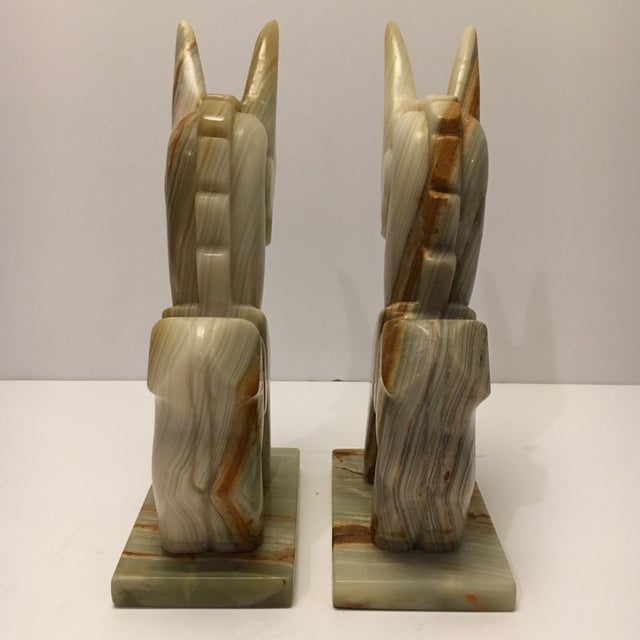 Vintage Marble Donkey Bookends - A Pair - Image 5 of 7