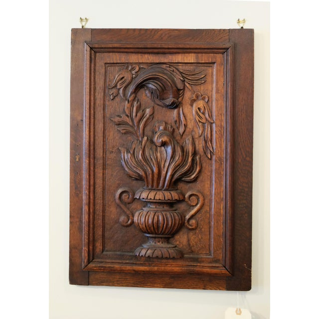 Antique European Carved Walnut Panel - Image 2 of 5