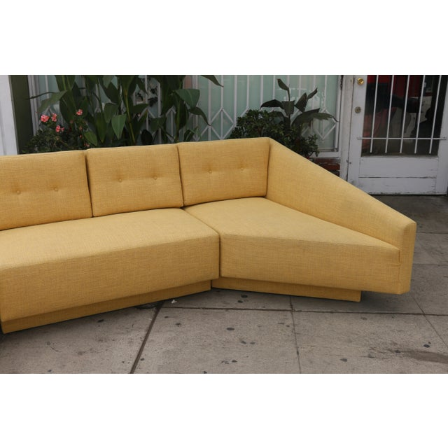 Yellow Sectional Sofa - Image 8 of 11