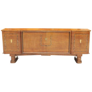 Fine French Art Deco Jules Leleu Style Rosewood M-O-P Sideboard / Buffet 1940s