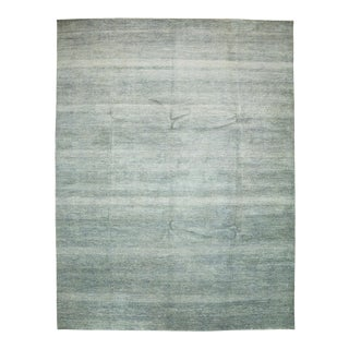 "Striped Hand Knotted Area Rug - 9'1"" X 12'1"""