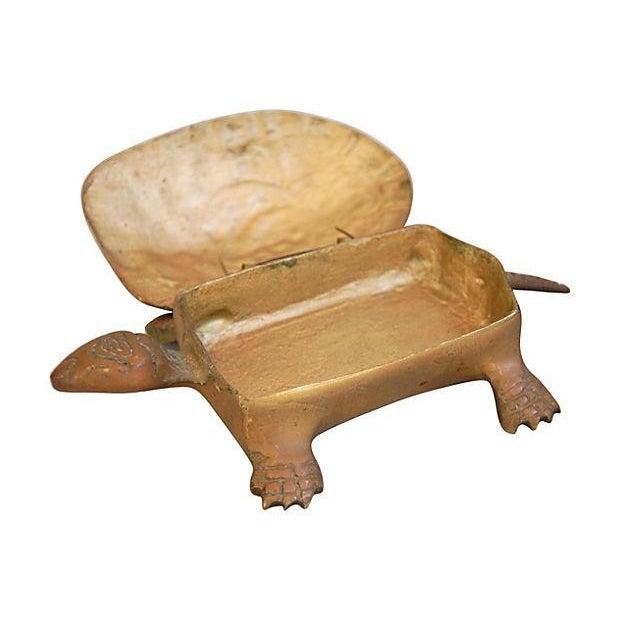 Mid-Century Brass Turtle Keepsake Trinket Box - Image 2 of 6