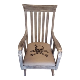 Oak Skull Rockering Chair