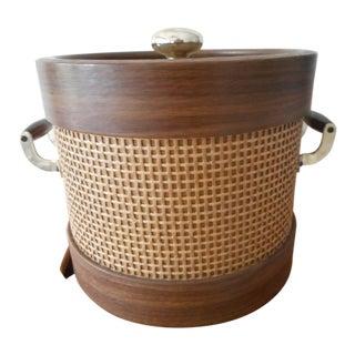 Mid-Century Bentwood Style Cane Ice Bucket