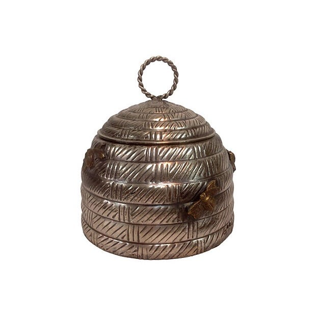 Hive Shaped Metal Canister - Image 1 of 3