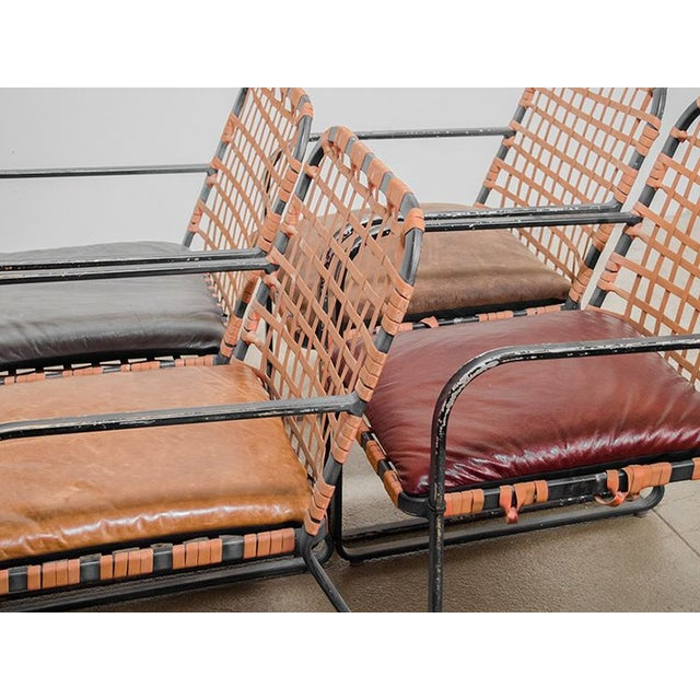 Leather Bagged Chair Set - Image 5 of 5