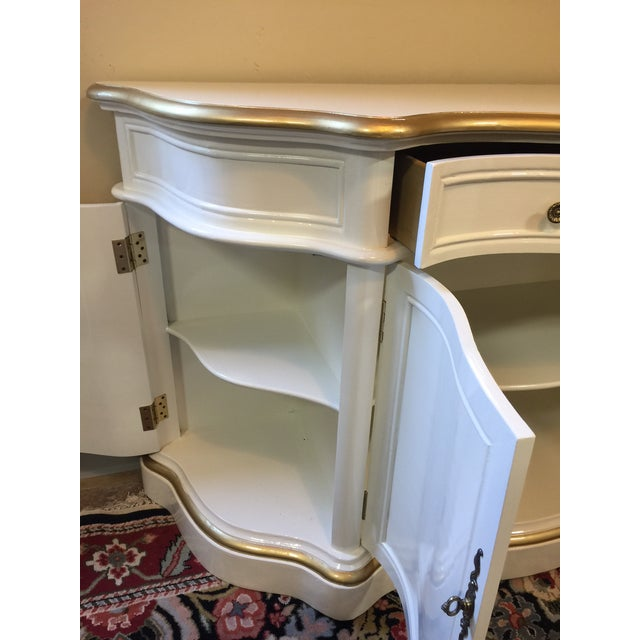 Vintage Cream and Gold Lacquered Buffet - Image 8 of 8