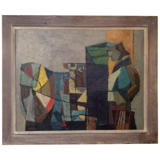 Mid-Century Abstract Oil Painting by Hy Klebanow