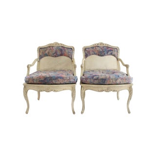 Louis XV-Style Cane Chairs- A Pair