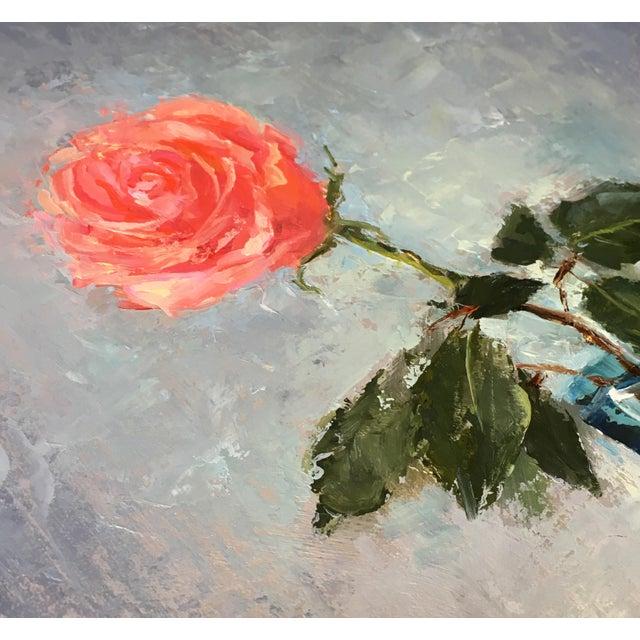"""Rose"" Original Oil Painting - Image 4 of 5"