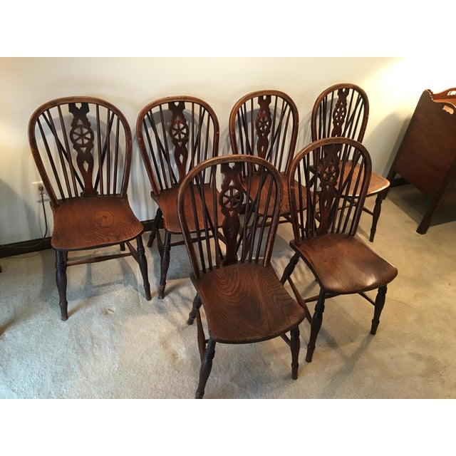 Windsor Kitchen Chairs: Windsor Oak Dining Room Kitchen Chairs Wagon Wheel Brace