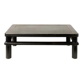 Dark Brown Rosewood Simple Oriental Round Legs Rectangular Display Table Stand